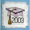 Graduation Cap Cross Stitch Pattern